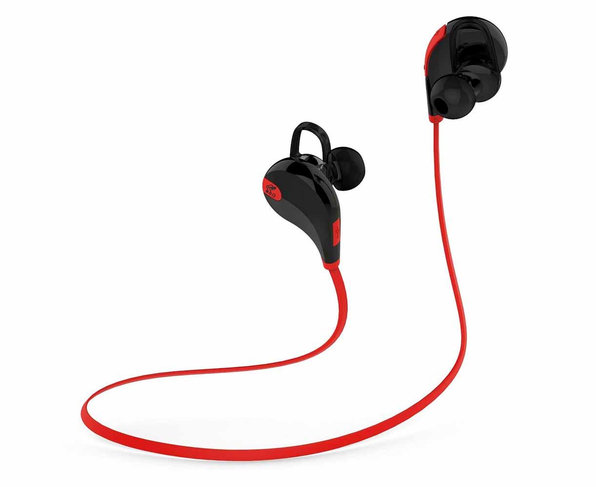 Amazon、Bluetoothヘッドセット「Soundpeats QY7(black/red)」を2,399円で販売中(8月1日タイムセール)