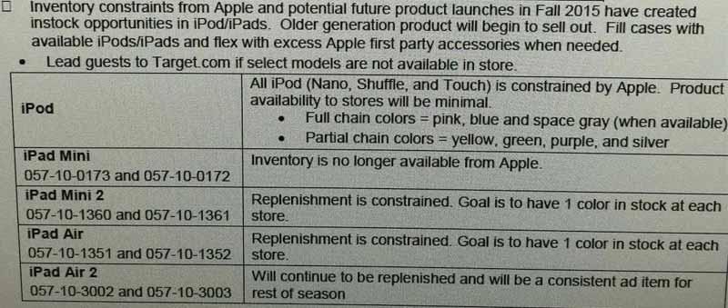 Apple、大手小売店に対して「iPod」シリーズ、「iPad mini 2」「iPad Air」の供給を制限!?