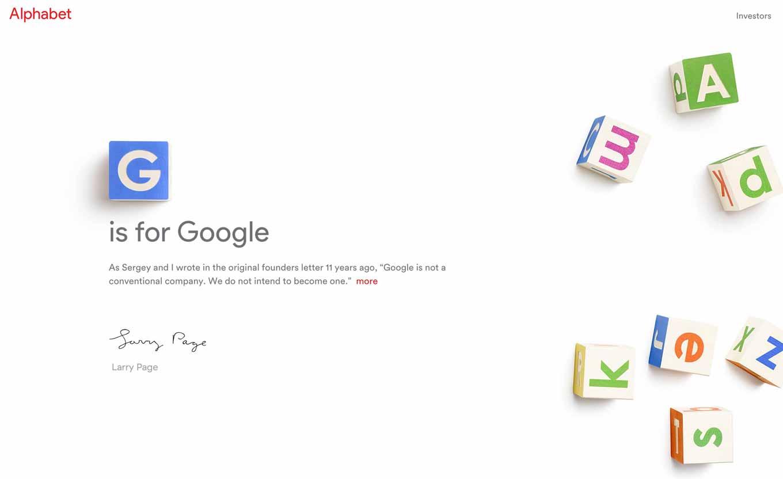 Google、組織再編を発表 - 新会社「Alphabet」を設立