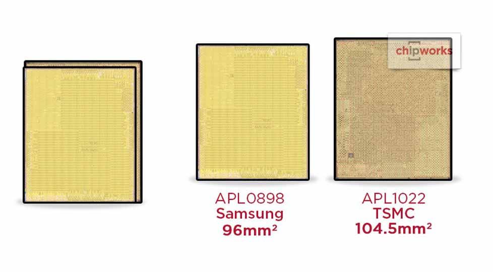 iPhone 6sシリーズに搭載の「A9」プロセッサはサムスン製とTSMC製でダイサイズが違うことが明らかに