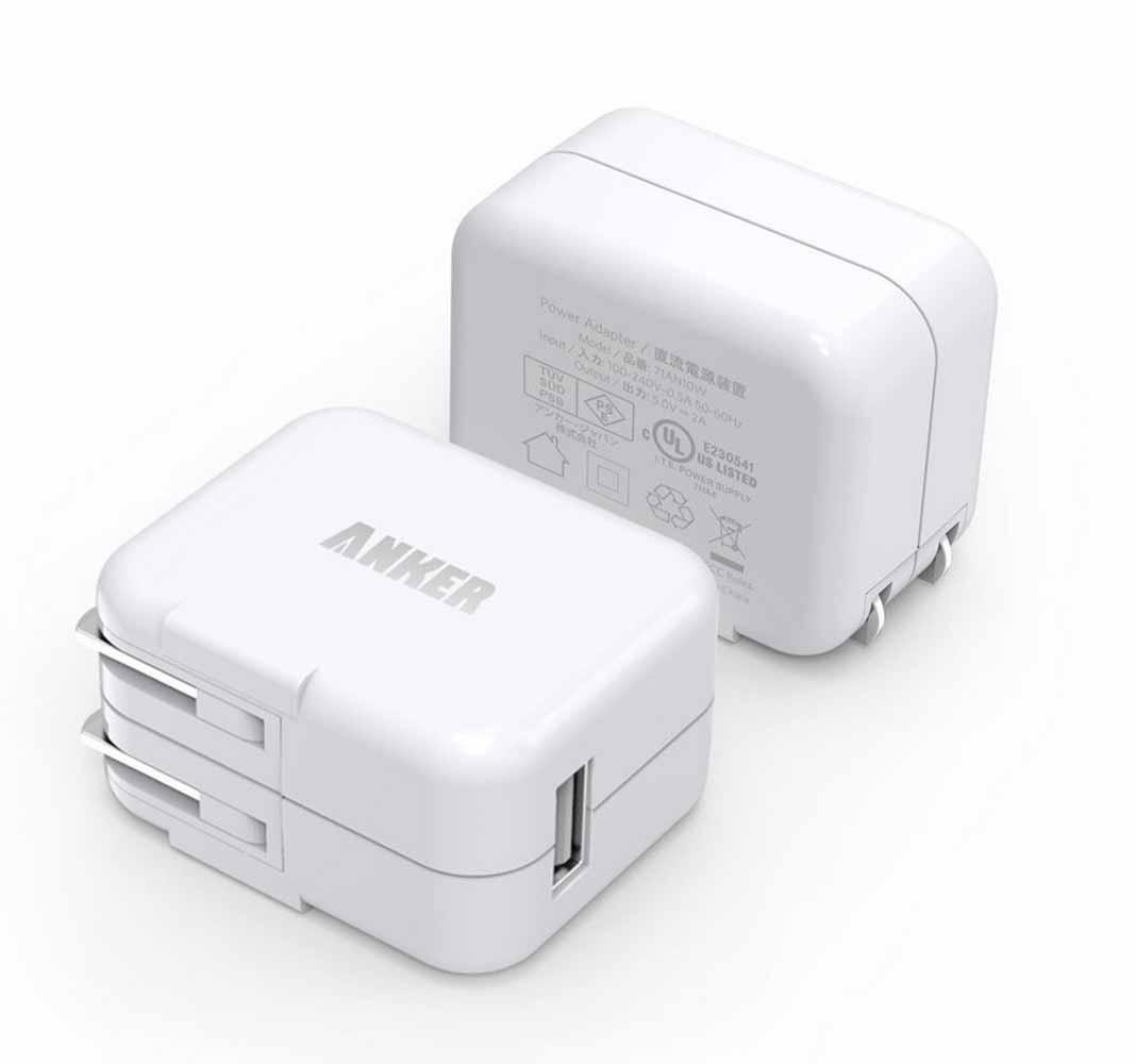 Amazon、「Anker 10W USB急速充電器 2個セット」を1,279円で販売中(2015年9月5日タイムセール)