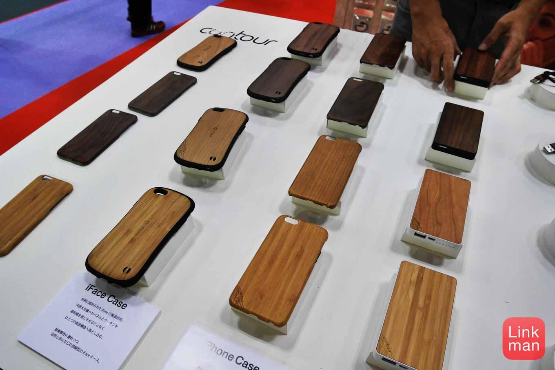 ギフトショー秋2015レポート:Hamee、木の素材をつかった「Contour」シリーズとしてiPhoneケースなどを展示