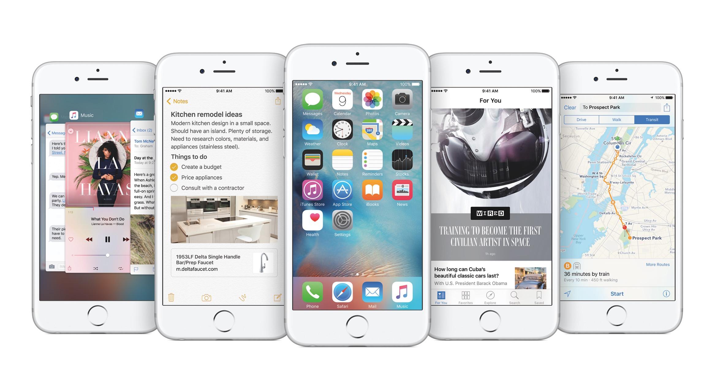 iOSバージョン別シェア「iOS 9」は66%に