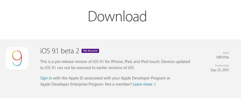 Apple、デベロッパ向けに「iOS 9.1 beta 2」と「tvOS beta 2」リリース