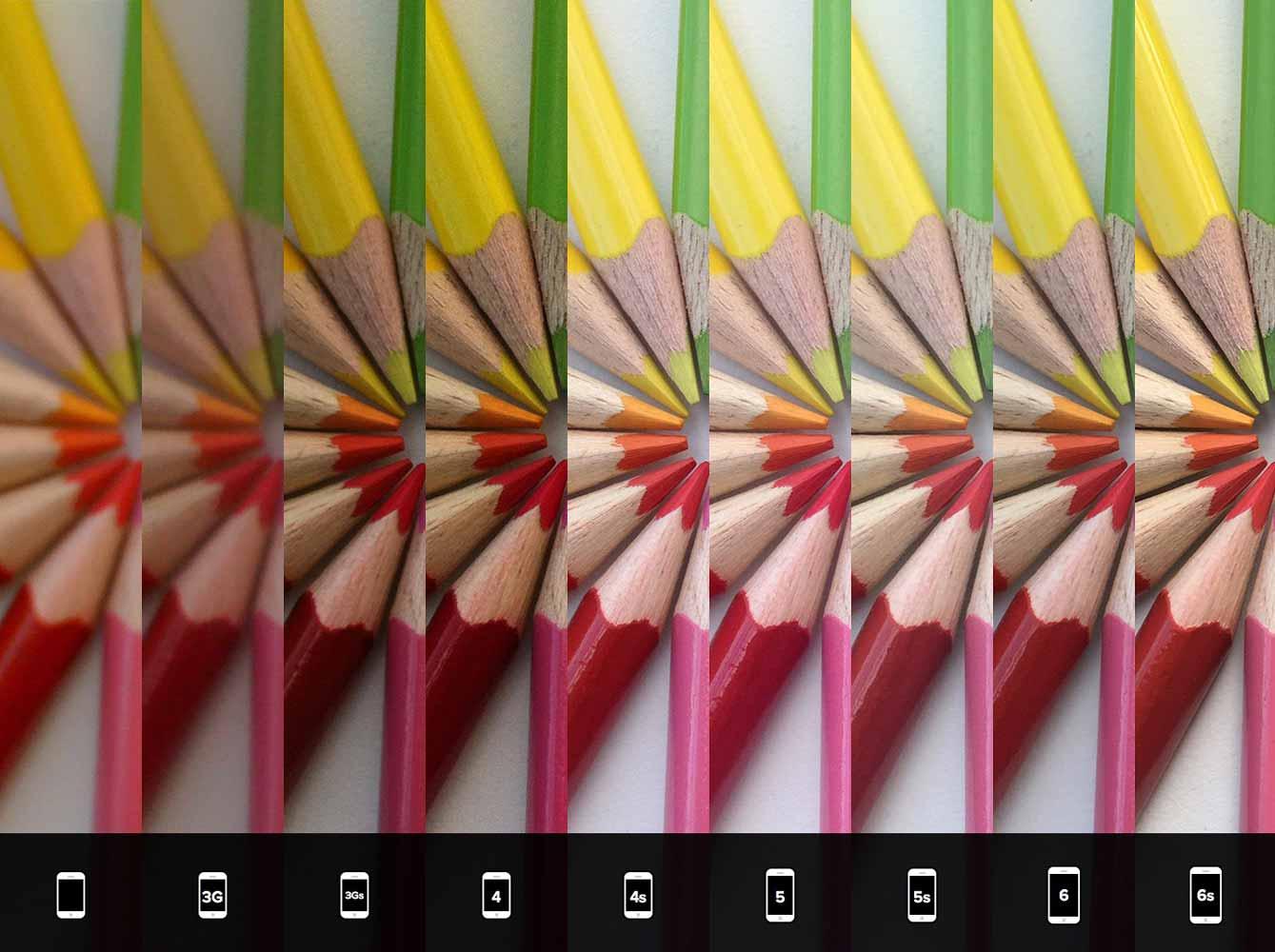 「iPhone 6s」を含むすべての世代のiPhoneで撮影された写真の比較