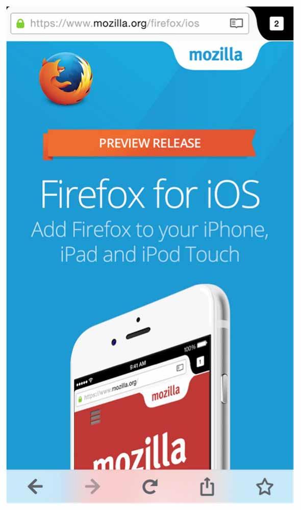 Mozilla、iOS向けブラウザアプリ「Firefox」のプレビューをニュージーランドで開始