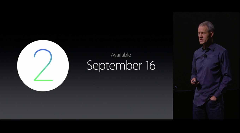 Apple、「watchOS 2」を9月16日にリリースすると発表
