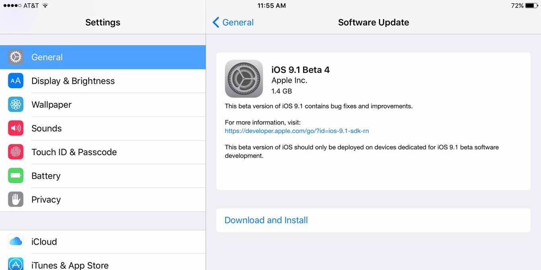 Apple、デベロッパ向けに「iOS 9.1 beta 4」「tvOS beta 3」リリース
