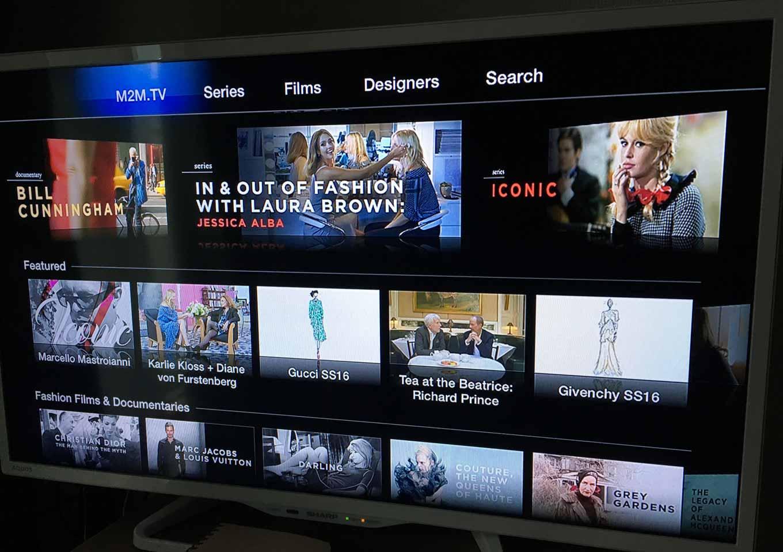 Apple、「Apple TV(第2,3世代)」にファッションにフォーカスした「M2M.TV」チャンネルを追加