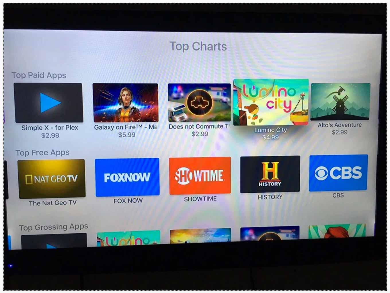 Apple、アメリカの「Apple TV(第4世代)」のApp Storeで有料・無料アプリのランキングの提供を開始
