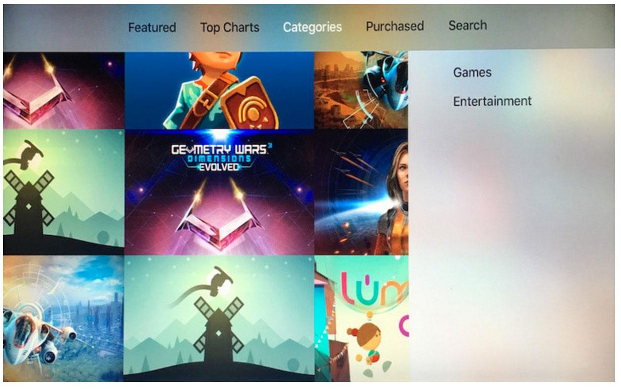 Apple、アメリカの「Apple TV(第4世代)」のApp Storeで「カテゴリー」セクションを追加