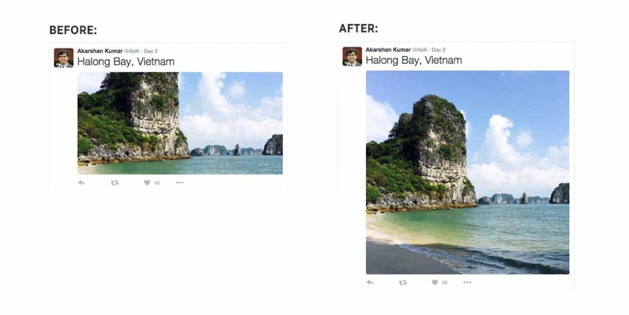 Twitter、公式サイト上の画像の表示を全体が表示されるように変更