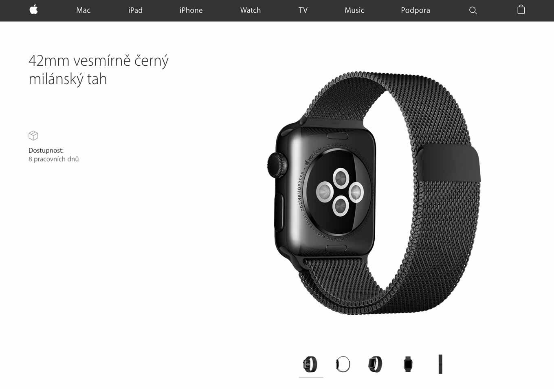 チェコのApple Storeに未発売のApple Watch向けバンド「ミラネーゼループ スペースブラック」の情報が掲載される