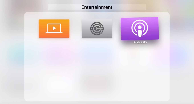 「tvOS 9.2 beta」ではBluetoothキーボードのサポートやフォルダ機能、Podcastsアプリを追加へ