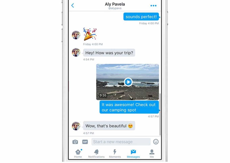 Twitter、ダイレクトメッセージに動画を共有する機能を追加