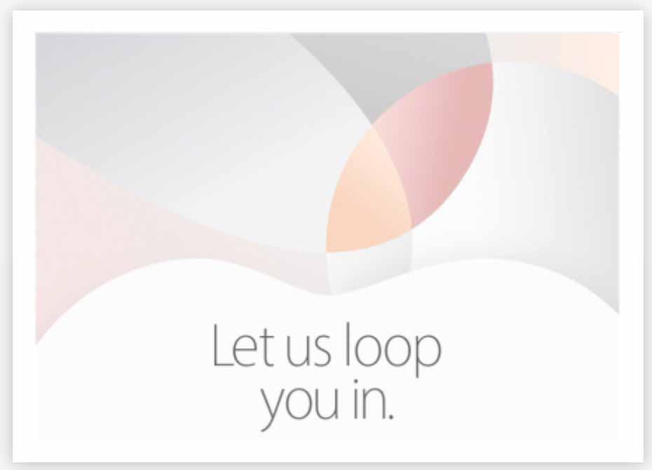3月21日スペシャルイベントLet us loop you in.