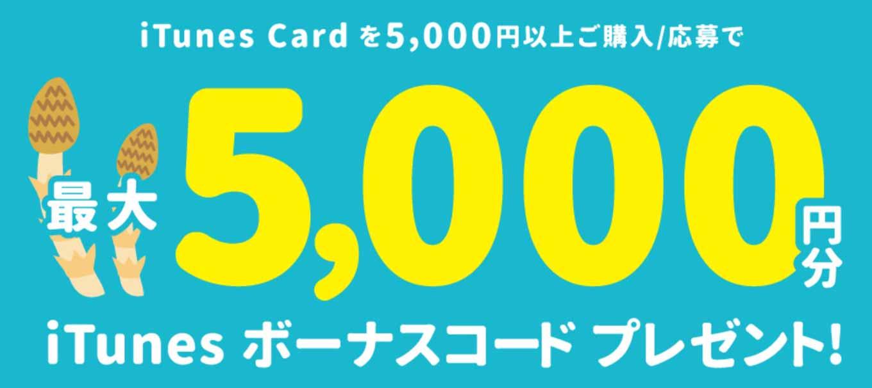 TSUTAYA、対象のiTunes Card購入で「最大5,000円分のiTunesボーナスコードプレゼント!」キャンペーンを実施中(2016年5月8日まで)