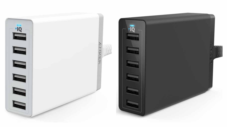 Amazon、「Anker PowerPort 6 (60W 6ポート USB急速充電器)」を50%オフで販売中(5月8日タイムセール)