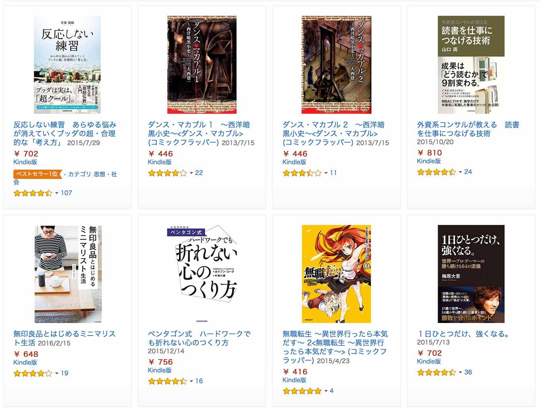Kindleストア、約660冊のKADOKAWA作品が対象の「オールKADOKAWAフェア 2016春」実施中