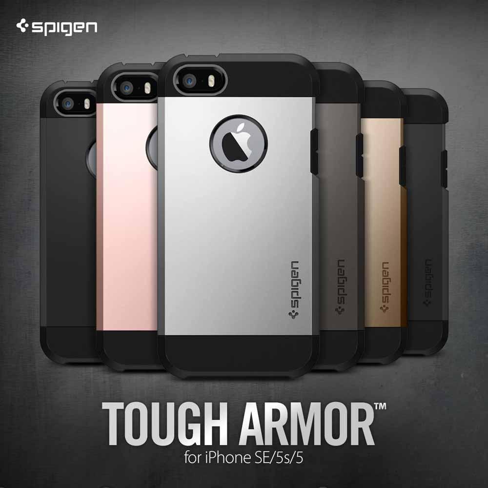 Spigen、iPhone SE向けケース「タフ・アーマー」を2日間限定で30%オフになるセールを実施中(5月15日まで)