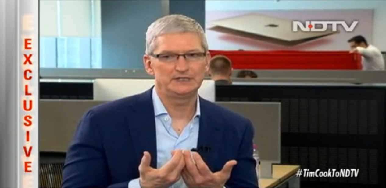 Tim Cook氏、インドのNDTVのインタビューに答えインドでのApple Payやストアの展開などについて語る