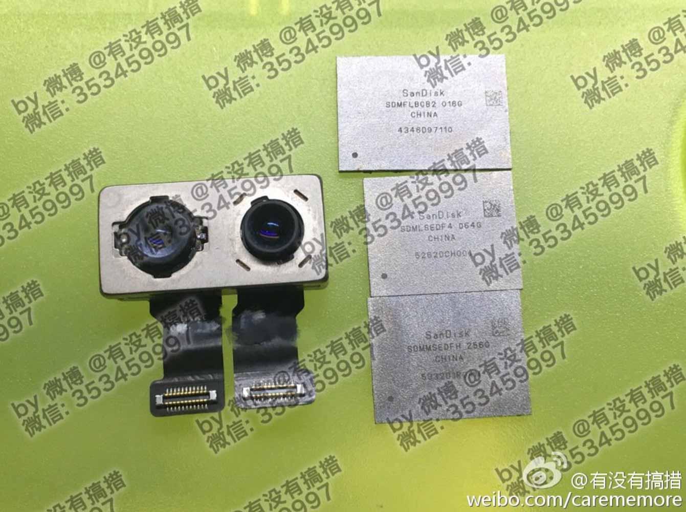 「iPhone 7 Plus」のデュアルカメラやNANDフラッシュメモリのパーツ画像がリークされる!? 256GBモデルも??