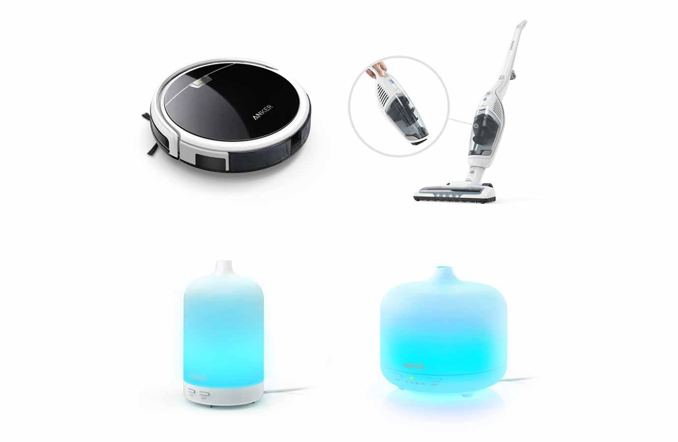 Anker、家電事業への参入を発表 – 自動掃除機ロボット、コードレス掃除機、オイルディフューザーを発売へ