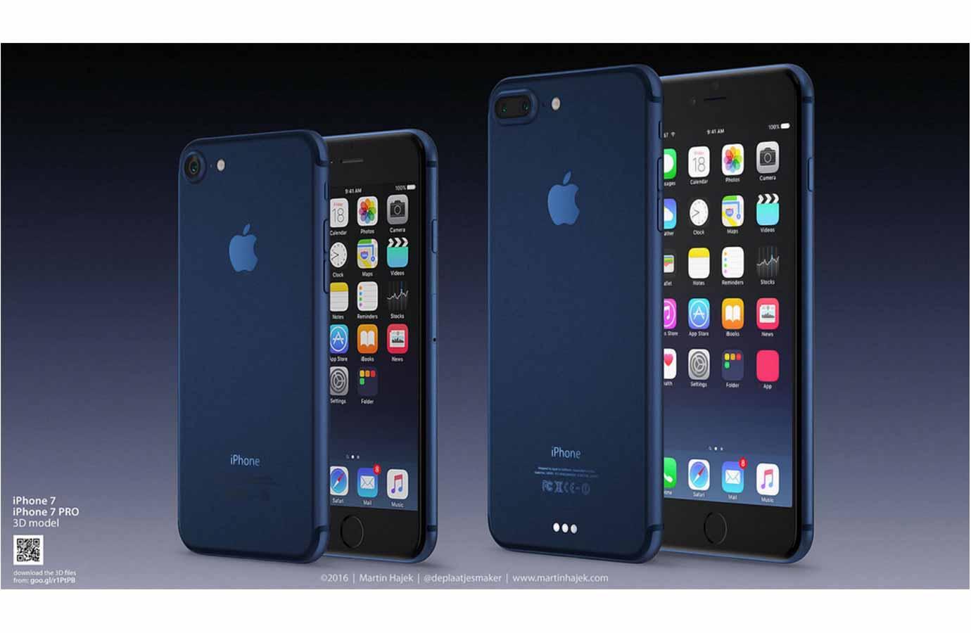 噂のされる新色「ディープブルー」の「iPhone 7」のコンセプト画像!?