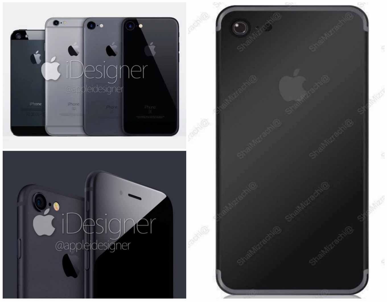 「iPhone 7」に追加が噂される「スペースブラック」のイメージ画像