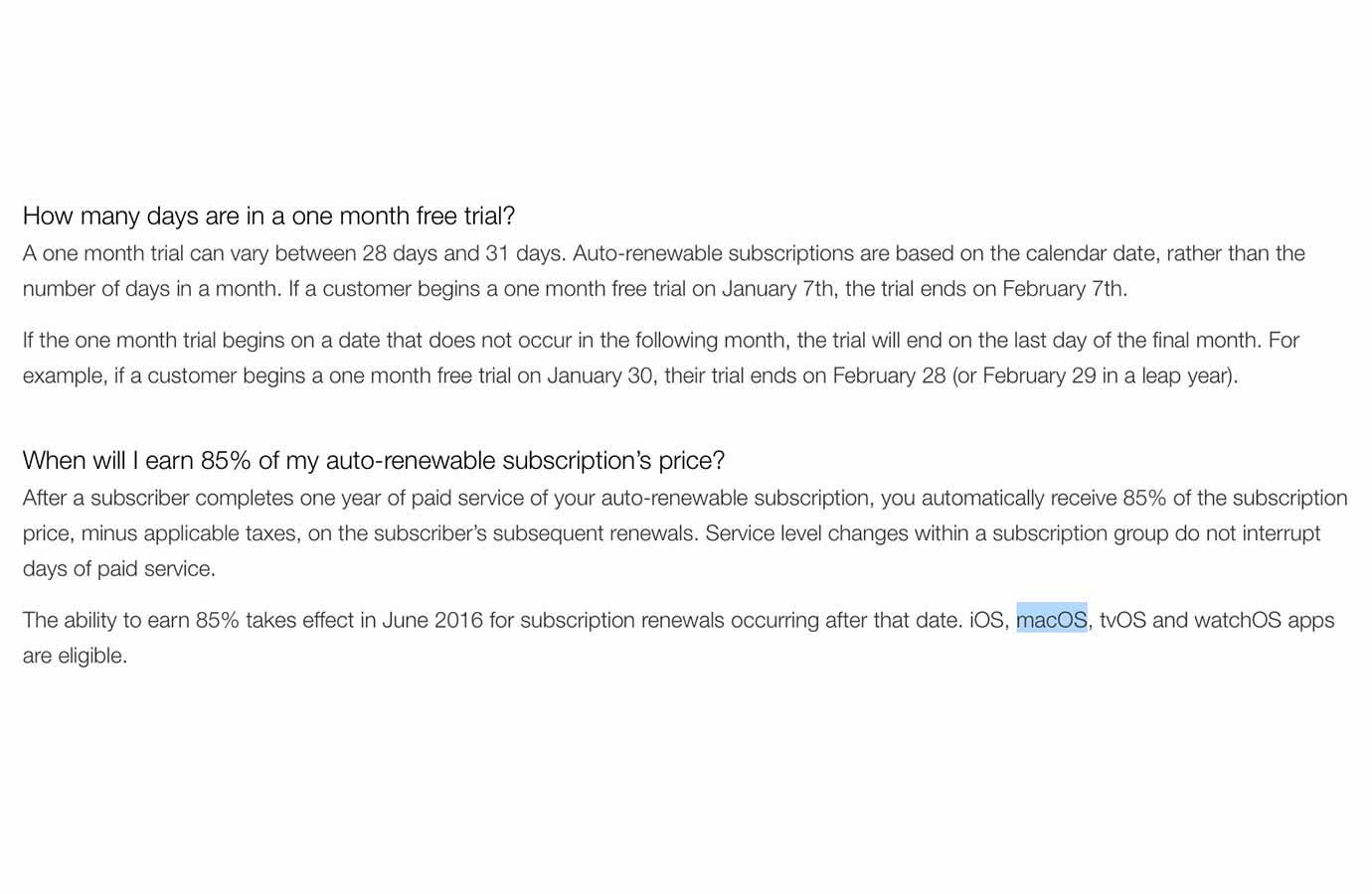 やはり次期「OS X」は「macOS」に変更か!? デベロッパーサイトでまた記述が見つかる