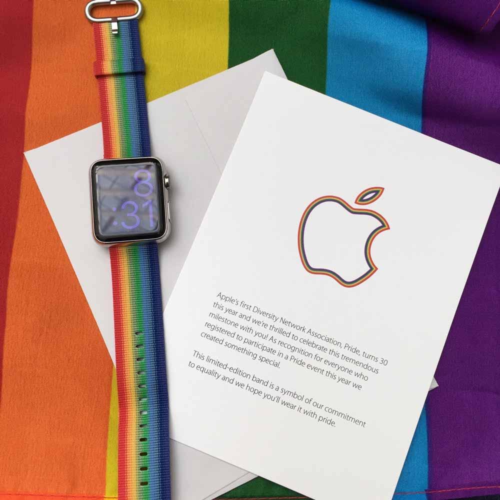 Apple、「Pride Parade」に参加したスタッフに限定の「Apple Watch」バンドを配布