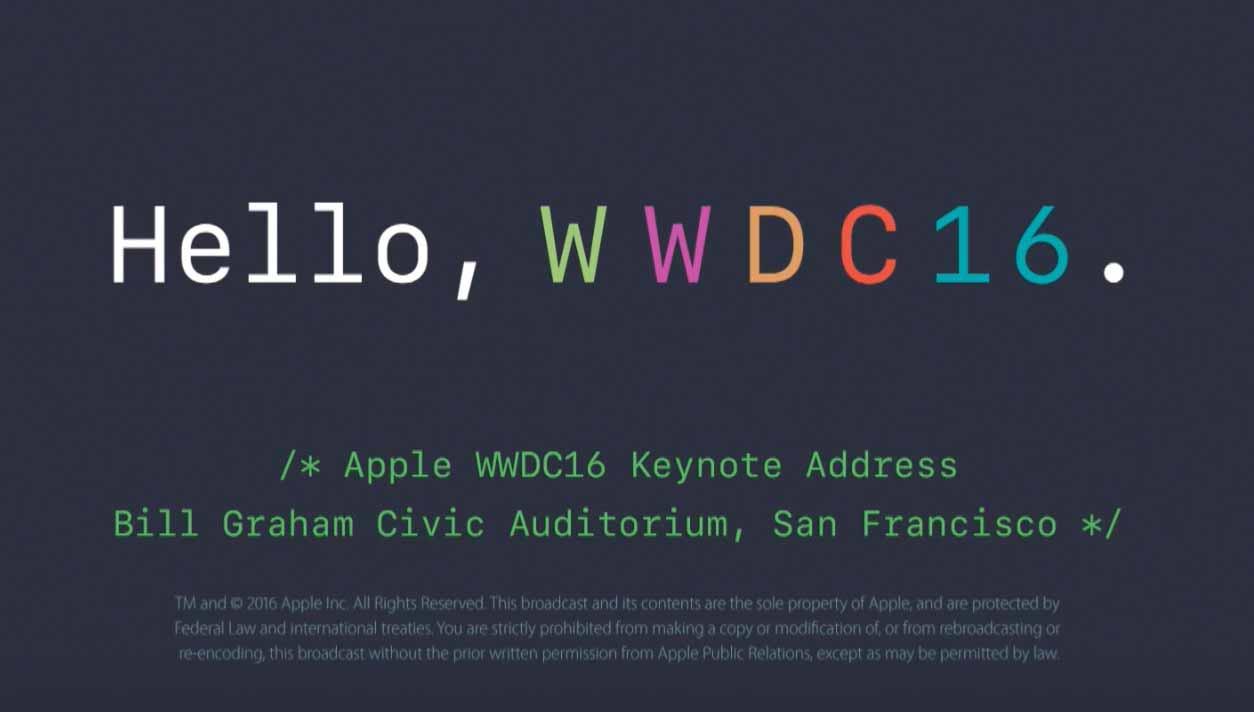 Apple、「WWDC 2016」の基調講演の動画をYouTubeでも公開