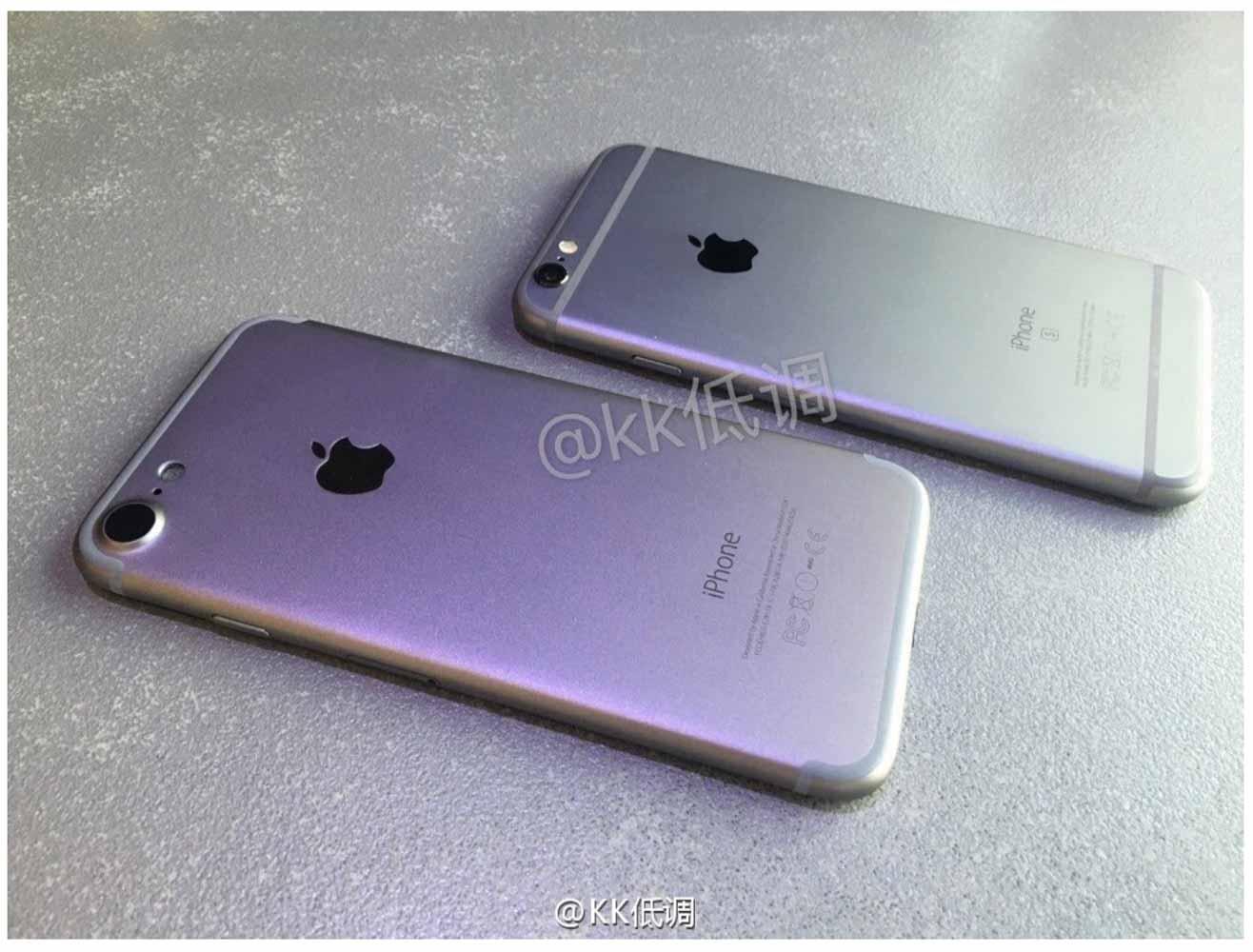 「iPhone 7」のモックアップと「iPhone 6s」を比較した画像や動画