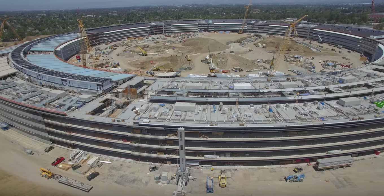 Appleの新社屋「Apple Campus 2」建設現場の最新空撮動画(2016年8月)