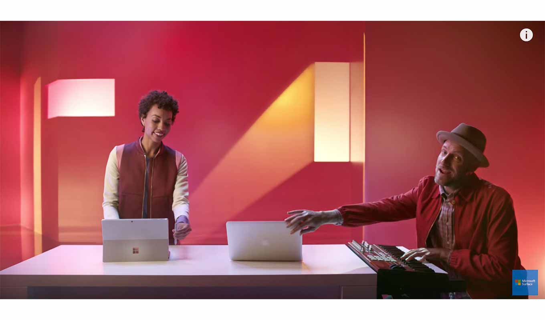 Microsoft、「Surface Pro 4」と「MacBook Air」を比較するTVCMを公開