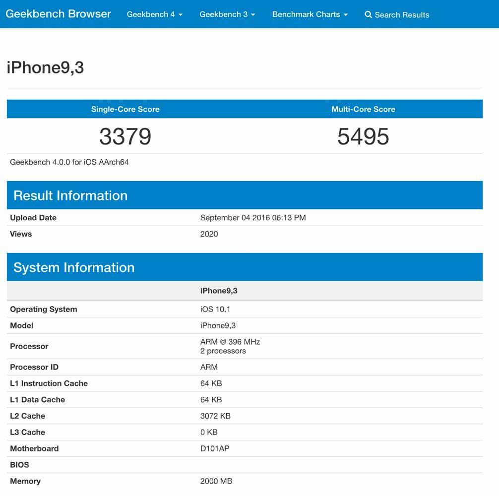 「iPhone 7」のベンチマークスコアが明らかに!?