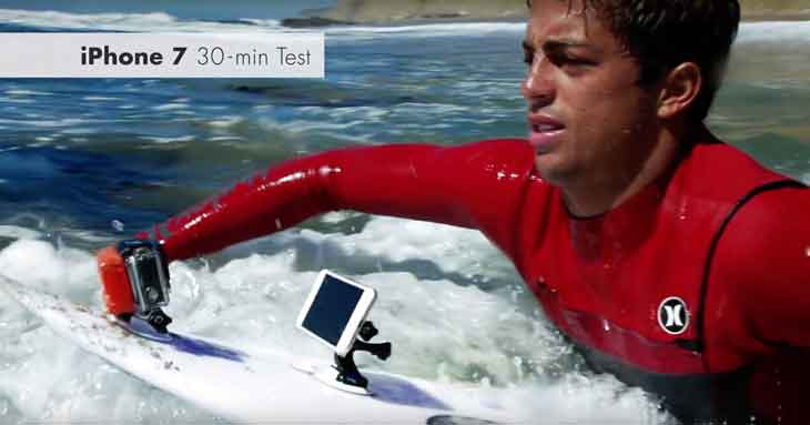プロサーファーが「iPhone 7」の耐久テストを実施