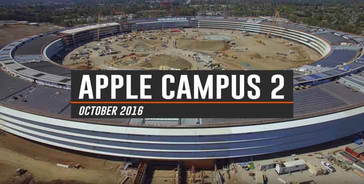 Appleの新社屋「Apple Campus 2」建設現場の最新空撮動画(2016年10月)