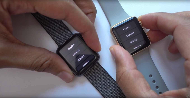 「Apple Watch Series 2」と「Apple Watch Series 1」の動作スピードを比較した動画