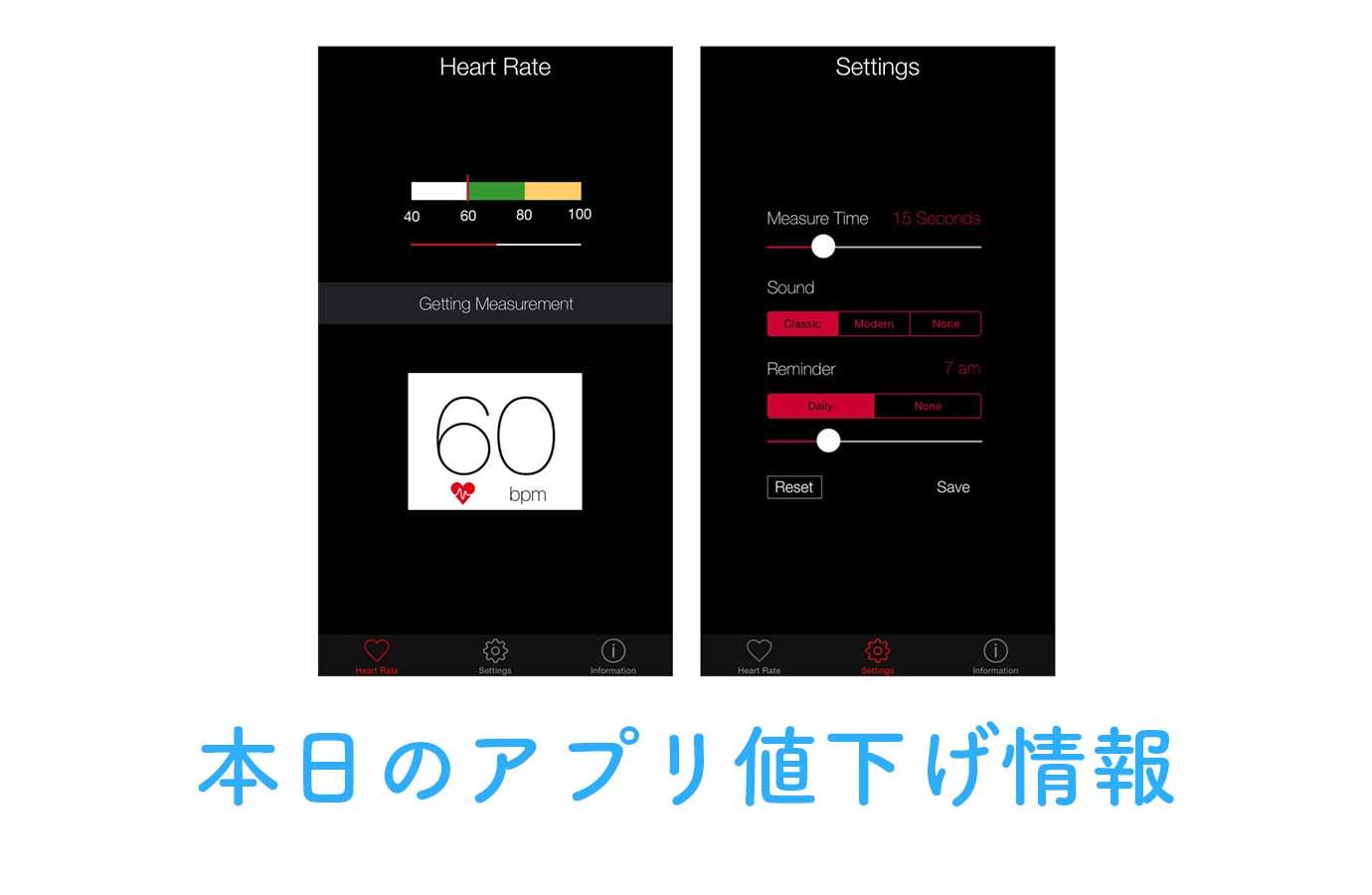120円→無料!カメラを使って心拍数を計測することができる「Heart Rate Measurement」など【10/21】アプリ値下げ情報
