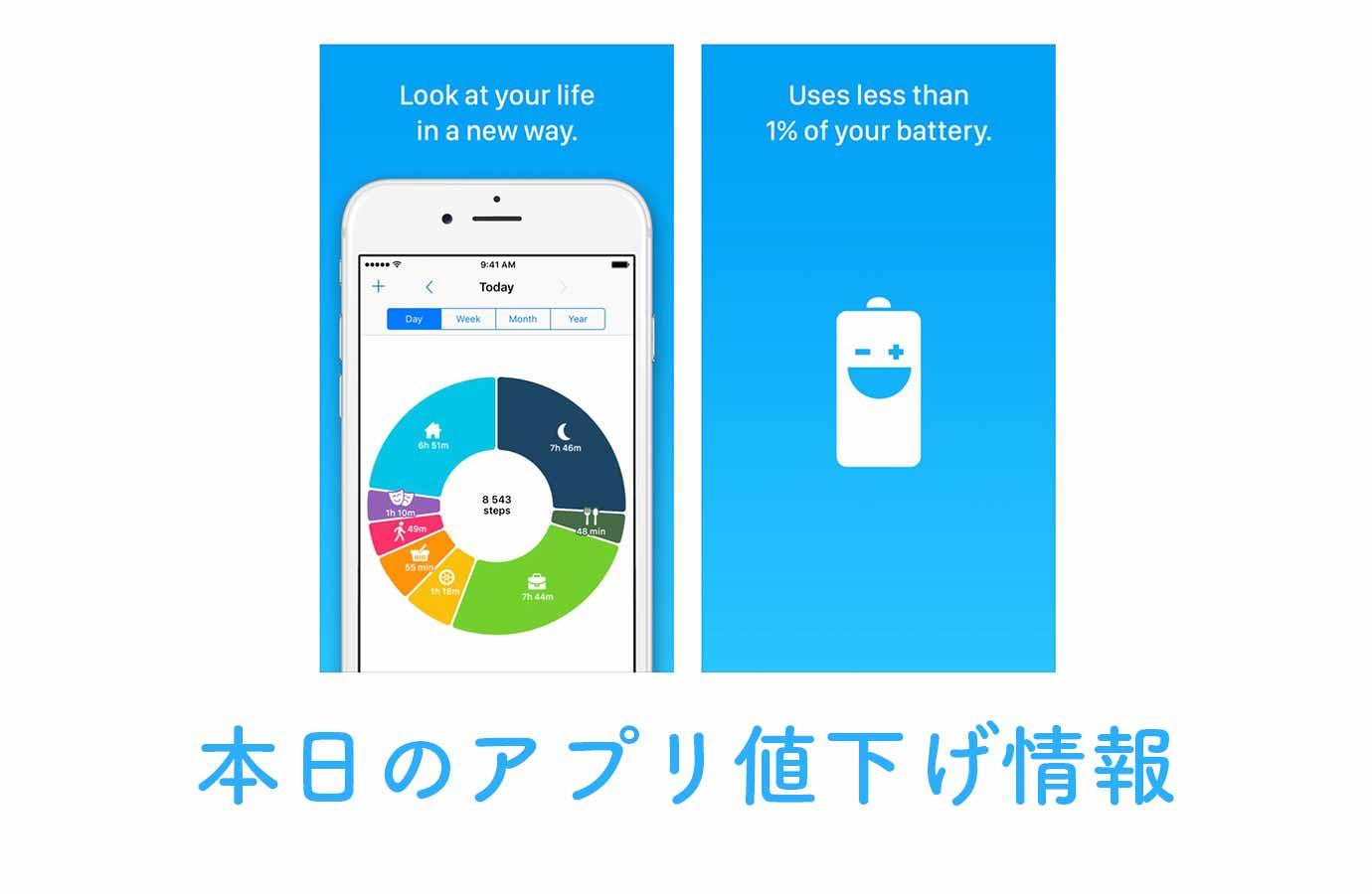 240円→無料!自動的にライフログを記録してくれる「Life Cycle」など【10/24】アプリ値下げ情報