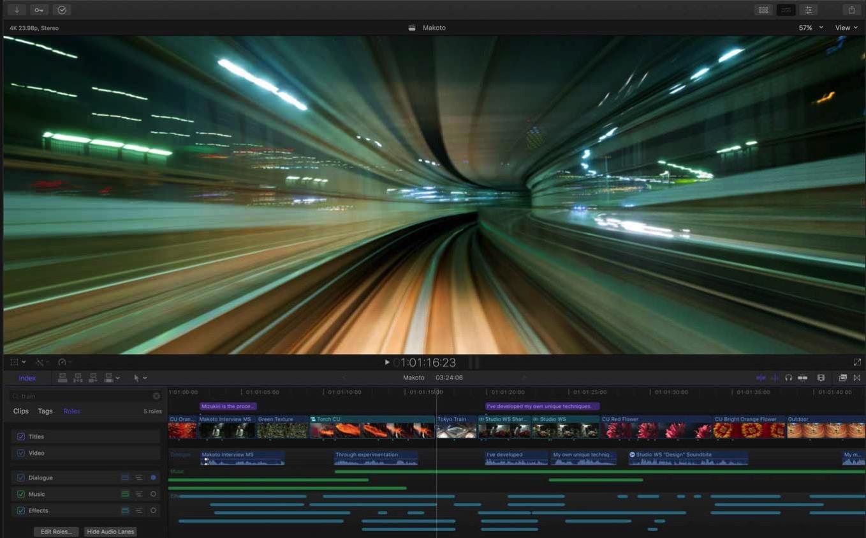 Apple、360°VR編集やHEVE・HEIFに対応したMac向け動画編集アプリ「Final Cut Pro 10.4」リリース