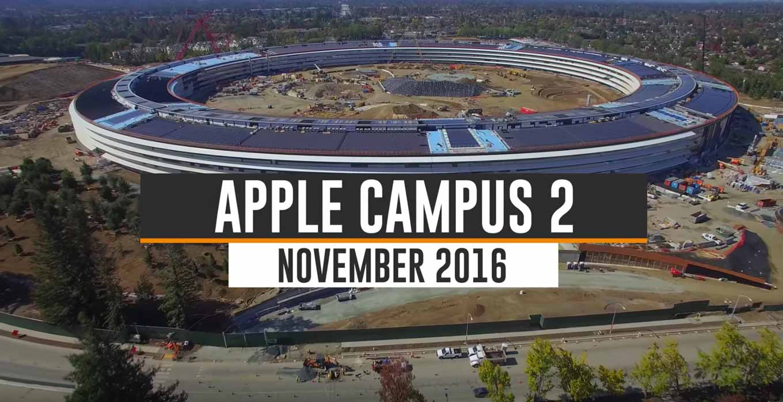 Appleの新社屋「Apple Campus 2」建設現場の最新空撮動画(2016年11月)