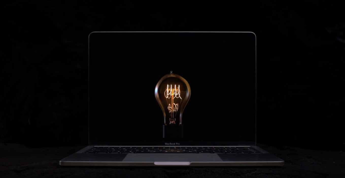 Apple、Touch Bar搭載「MacBook Pro(Late 2016)」の新しいTVCM「Bulbs」を公開