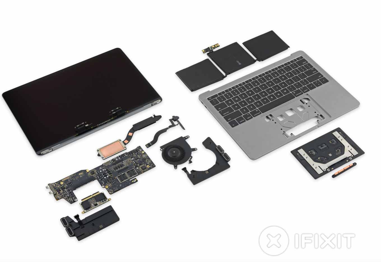 iFixit、Touch Bar非搭載「MacBook Pro(Late 2016)」のバラシレポートを公開