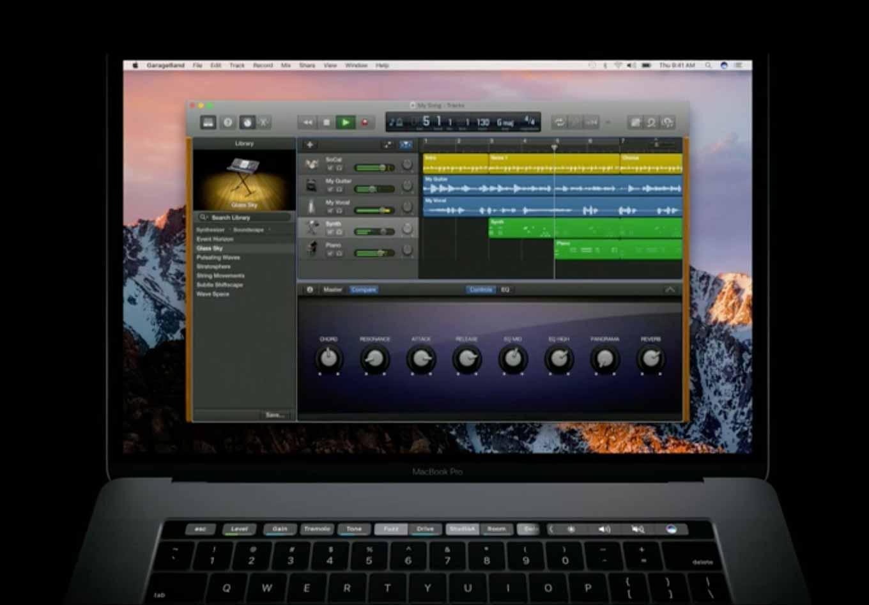 「Logic Pro X」への「Touch Bar」対応は2017年初めになる見通し