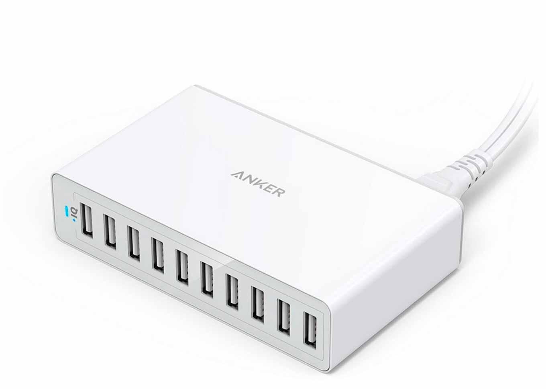Amazon、AnkerのUSB急速充電器「Anker PowerPort 10」を25%オフで販売中(タイムセール)