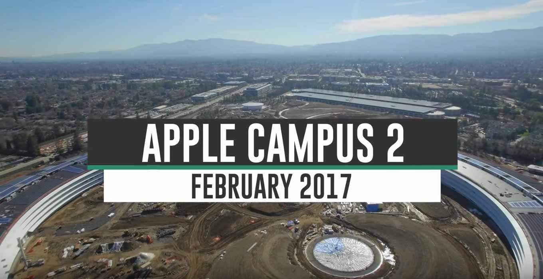 Appleの新社屋「Apple Campus 2」建設現場の最新4K空撮動画(2017年2月)