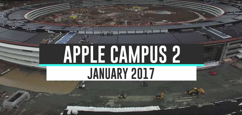Appleの新社屋「Apple Campus 2」建設現場の最新4K空撮動画(2017年1月)