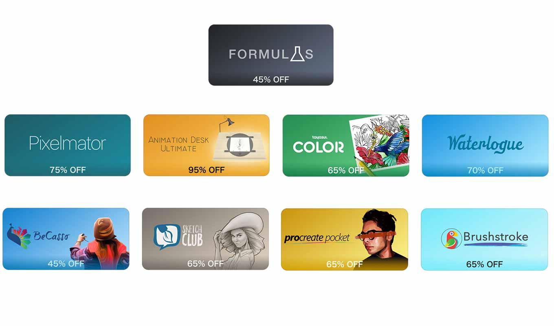 【120円均一】App Store、人気の写真編集やペイントアプリなどが対象の「アート関連App:期間限定」セール実施中
